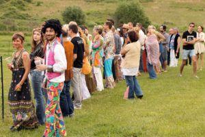 Anniversaire sur le thème hippie
