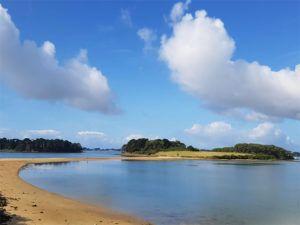 La Plage des Sept-îles dans le Golfe du Morbihan