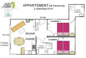 Plan de l'appartement Les Hauts de Toulvern
