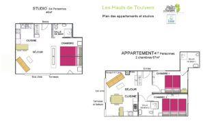 Plan studio et appartement Les Hauts de Toulvern