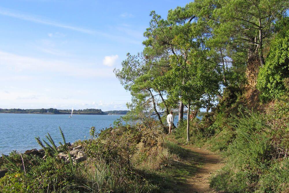 Sentier côtier au bord du Golfe du Morbihan