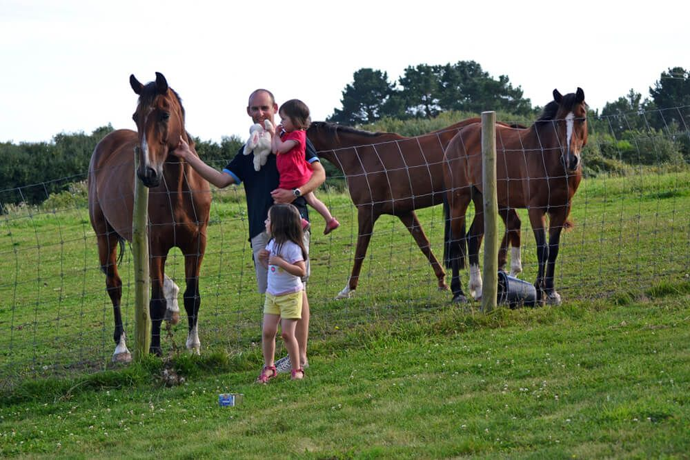 Vacances en famille au milieu des chevaux
