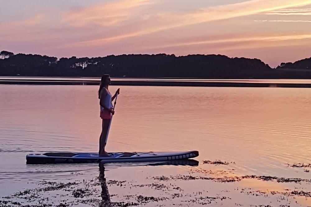 Paddle au soleil couchant