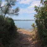 Joli sentier face à la mer, vue sur Locmariaquer