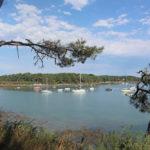 Bateaux au mouillage à la Pointe du Blair