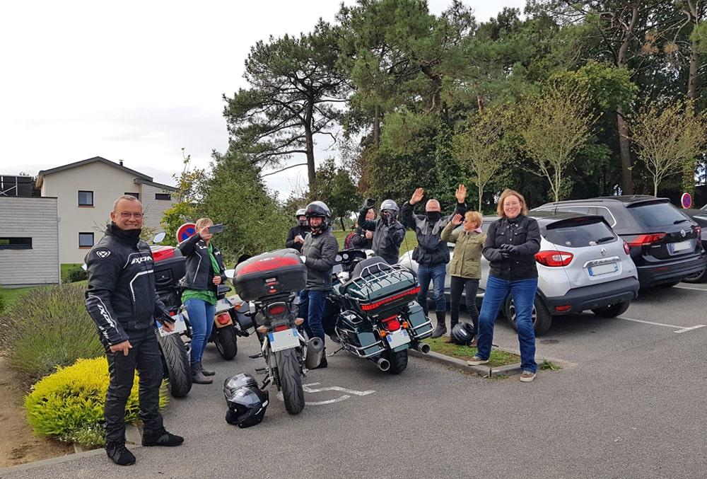 Groupe de motards aux Hauts de Toulvern