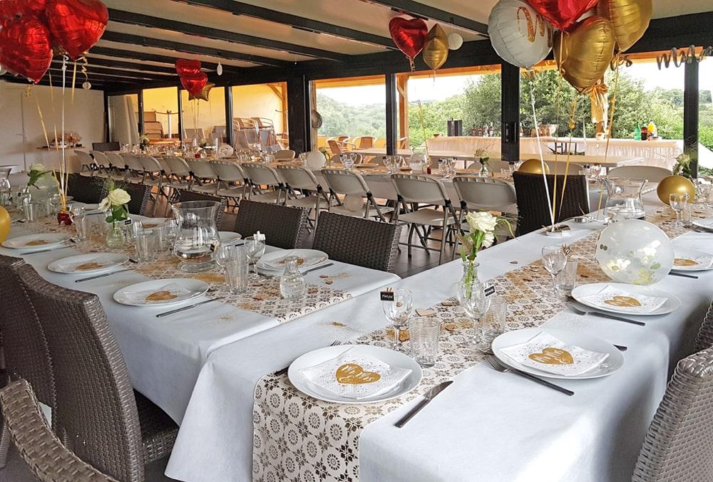 Salle de réception : anniversaire, mariage, fête familiale...